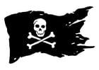 Bilde å fargelegge piratflagg