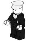 Bilde å fargelegge politimann