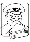 Bilde å fargelegge postmann