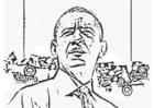Bilde å fargelegge President Barack Obama