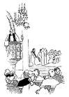 Bilde å fargelegge prest i prekestol