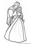 Bilde å fargelegge prins og prinsesse
