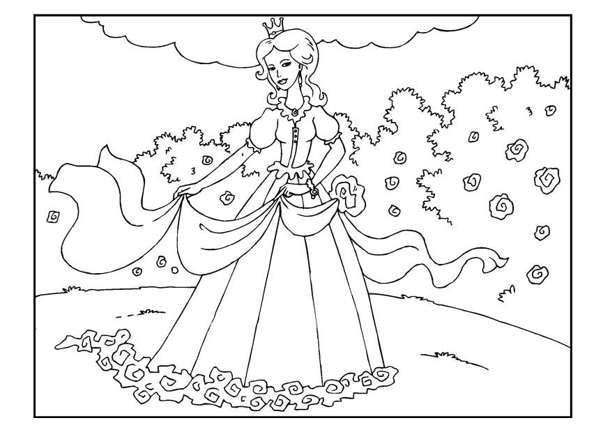 Bilde 229 Fargelegge Prinsesse I Hagen Bil 22650