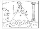 Bilde å fargelegge prinsesse