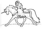 Bilde å fargelegge prinsessen av Shamrock pÃ¥ en enhjørning