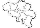 Bilde å fargelegge provinser i Belgia