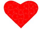 bilde puslespill hjerte