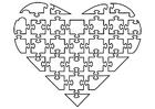Bilde å fargelegge puslespill hjerte