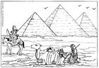 Bilde å fargelegge pyramidene i Giza