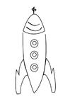 Bilde å fargelegge rakett