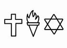 Bilde å fargelegge religion - etikk