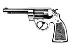 Bilde å fargelegge revolver