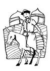 Bilde å fargelegge ridder fra Mongolia
