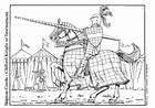 Bilde å fargelegge ridder i konkurranse