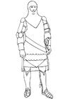 Bilde å fargelegge ridder i rustning