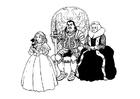 Bilde å fargelegge ridder med familie