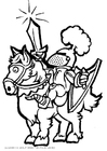 Bilde å fargelegge ridder