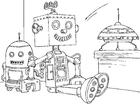 Bilde å fargelegge robot leketøy