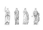 Bilde å fargelegge romersk kvinne