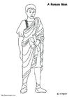 Bilde å fargelegge romersk mann