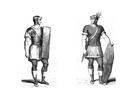 Bilde å fargelegge romersk soldat