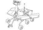Bilde å fargelegge romfartøy for forskning pÃ¥ Mars