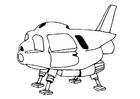 Bilde å fargelegge romskip
