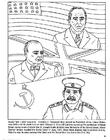 Bilde å fargelegge Roosevelt, Churchill, Stalin