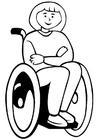 Bilde å fargelegge rullestol