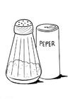 Bilde å fargelegge salt og pepper