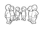 Bilde å fargelegge samtalegruppe