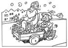 Bilde å fargelegge Sankt Nikolaus og Svarte-Petter