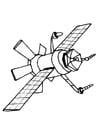 Bilde å fargelegge satelitt