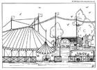 Bilde å fargelegge sirkus