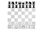 Bilde å fargelegge sjakk