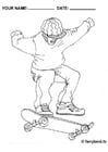 Bilde å fargelegge skateboard
