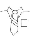 Bilde å fargelegge skjorte med slips