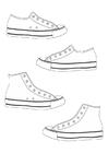 Bilde å fargelegge sko