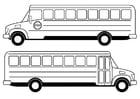 Bilde å fargelegge skolebuss