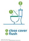 Bilde å fargelegge skyll toalettet