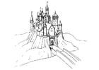 Bilde å fargelegge slott