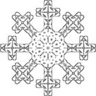 Bilde å fargelegge snøflak
