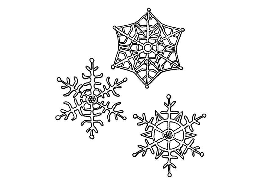 Sneeuw Kleurplaat Bilde 229 Fargelegge Sn 248 Krystaller Bil 9491
