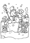 Bilde å fargelegge snømann