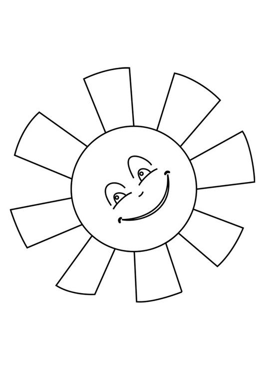 Bilde fargelegge sol bil 25620 for Sole disegno da colorare