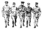 Bilde å fargelegge soldater fra den første verdenskrig
