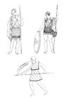 Bilde å fargelegge soldater i antikkens Grekenland