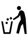 Bilde å fargelegge søppel