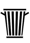 Bilde å fargelegge søppelbøtte
