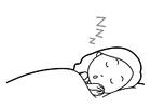 Bilde å fargelegge søvnhygiene
